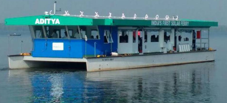 India's first solar ferry sails into global contest