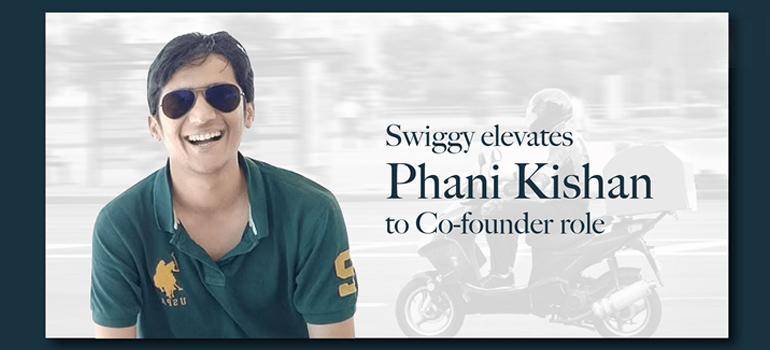 IIT Madras alumnus Mr. Phani Kishan elevated as co-founder of Swiggy