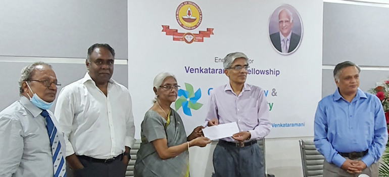 Venkataramani Fellowship established at IIT-Madras